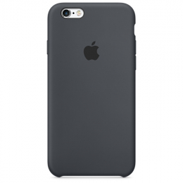 Pouzdro Apple iPhone 6S Silicone Case Charcoal šedé