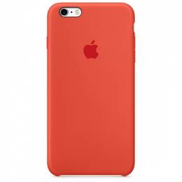 Pouzdro Apple iPhone 6s Plus Silicone Case oranžové