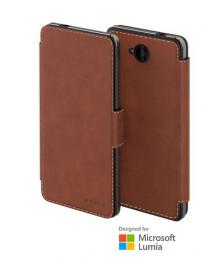Pouzdro MOZO s flipem pro Lumia 650 Cognac