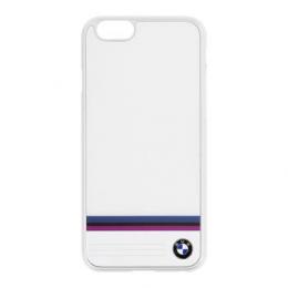Pouzdro BMW Stripe Aluminium Hard Case iPhone 6/6S bílé