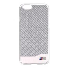 BMW Carbon Aluminium Silver Zadní Kryt pro iPhone 6 4.7