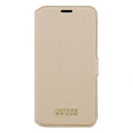 Pouzdro Guess Saffiano Book Samsung G930 Galaxy béžové