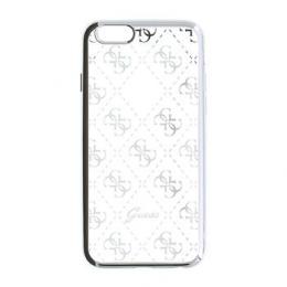 Pouzdro Guess 4G TPU Silver pro iPhone 5/5S/SE
