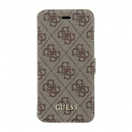 Pouzdro Guess 4G UpTow Book Apple iPhone 5/5S/SE hnědé