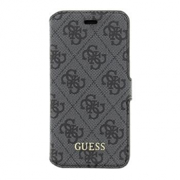 Pouzdro Guess 4G UpTow Book Apple iPhone 5/5S/SE šedé