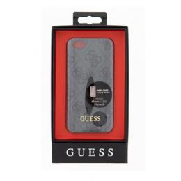Pouzdro Guess 4G UpTow Hard Zadní Kryt pro Apple iPhone 5/5S/SE šedý