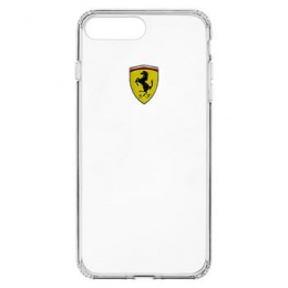 Pouzdro Ferrari Racing TPU iPhone 7 Plus čiré