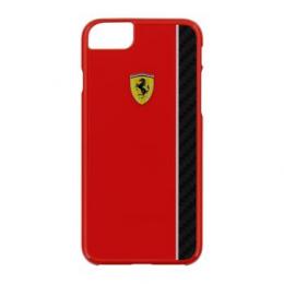Pouzdro Ferrari Scuderia Real Carbon Hard Case iPhone 7 červené