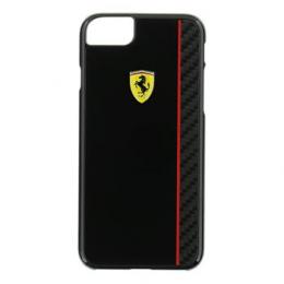 Pouzdro Ferrari Scuderia Real Carbon Hard Case iPhone 7 černé