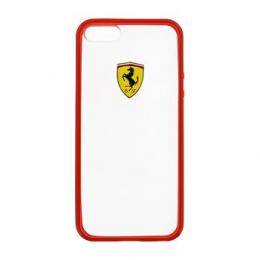 Pouzdro Ferrari Racing TPU iPhone 5/5S/SE červené