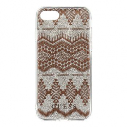 Pouzdro Guess Ethnic Chic Tribal 3D TPU Taupe iPhone 7