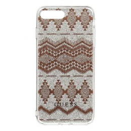 Pouzdro Guess Ethnic Chic Tribal 3D TPU Taupe iPhone 7 Plus
