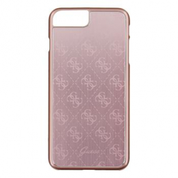 Pouzdro Guess 4G Aluminium iPhone 7 Plus růžové
