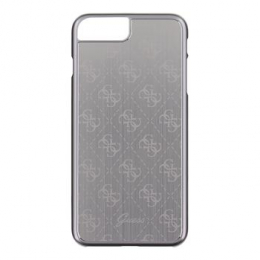 Pouzdro Guess 4G Aluminium iPhone 7 Plus stříbrné