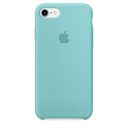 Pouzdro Apple iPhone 7 Silicone Case Sea Blue
