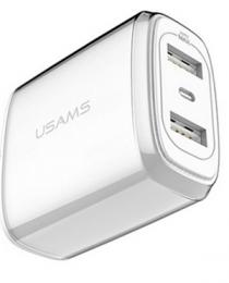 USAMS U2 USB Cestovní Dobíječ Silver