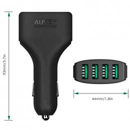 Aukey CC-01 autonabíječ 4x (2.4A výstup) nabíjení