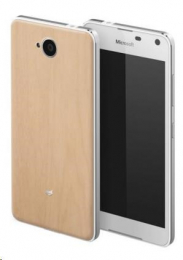 Pouzdro Mozo Back Cover Wood Microsoft Lumia 650 světlé