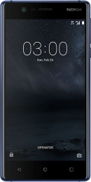 Nokia 3 Single SIM Tempered Blue