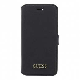 Pouzdro Guess Saffiano Book iPhone 6/6S/7 černé