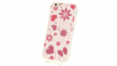 Plastový zadní kryt pro iPhone 6 a iPhone 6S s motivem srdce, motyla, květina