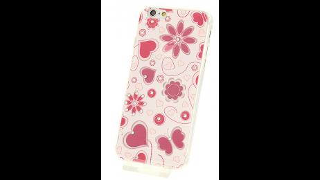 Plastový zadní kryt pro iPhone 6 a iPhone 6S s motivem srdce, motýla, květina