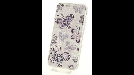 Silikonové pouzdro pro iPhone 6 a iPhone 6S s motivem motýlů