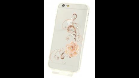 Silikonové pouzdro pro iPhone 6 a iPhone 6S s motivem oranžové růže
