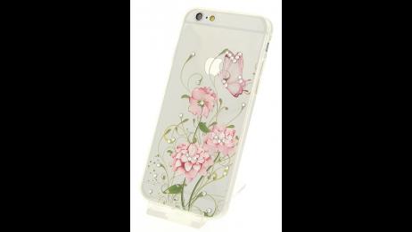 Silikonové pouzdro pro iPhone 6 a iPhone 6S s motivem květiny II.