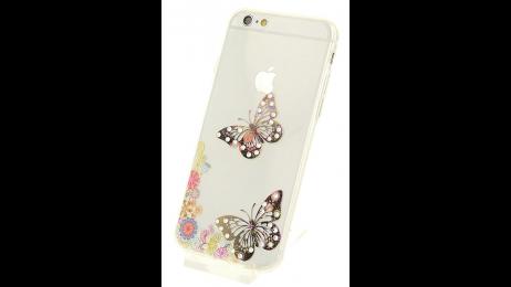 Silikonové pouzdro pro iPhone 6 a iPhone 6S s motivem motýlů II