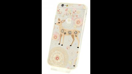 Silikonové pouzdro pro iPhone 6 a iPhone 6S s motivem bambi