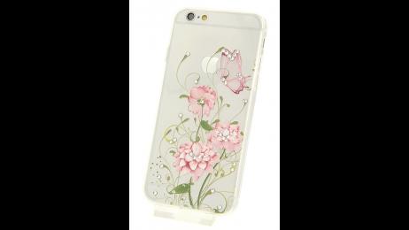 Silikonové pouzdro pro iPhone 6 a iPhone 6S s motivem květina III