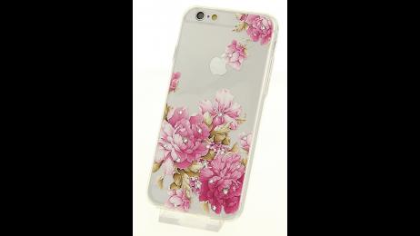 Silikonové pouzdro pro iPhone 6 a iPhone 6S s motivem květina IV