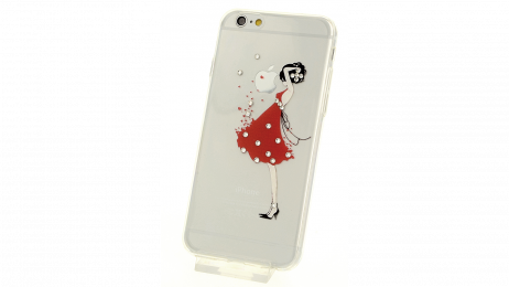 Plastový zadní kryt pro iPhone 6 a iPhone 6S s motivem dáma v šatech