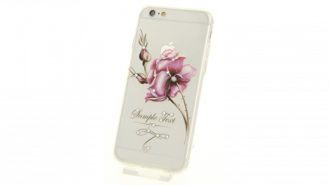 Silikonové pouzdro pro iPhone 6 a iPhone 6S s motivem růže II