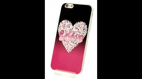 Silikonové pouzdro pro iPhone 6 a iPhone 6S s motivem květinového srdce