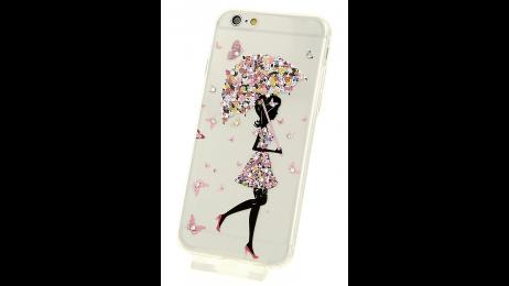 Plastový zadní kryt pro iPhone 6 a iPhone 6S s motivem květinového deštníku