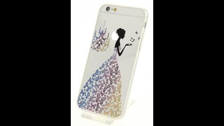 Silikonové pouzdro pro iPhone 6 a iPhone 6S s motivem motýlové dámy