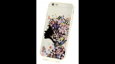 Silikonové pouzdro pro iPhone 6 a iPhone 6S s motivem květinové dámy