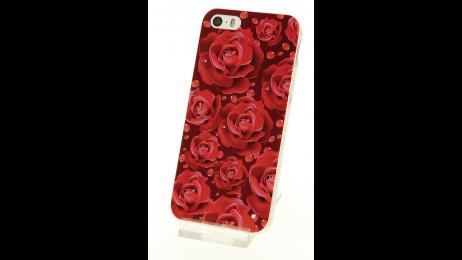 Silikonové pouzdro s motivem růží pro iPhone 5/5S/SE