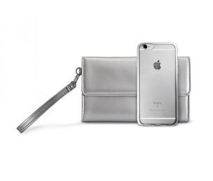 Pouzdro Puro METAL DUO + psaníčko iPhone 7 vesmírně šedé