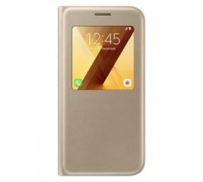 Pouzdro Samsung EF-CA520PF S-View zlaté pro Samsung Galaxy A5 2017