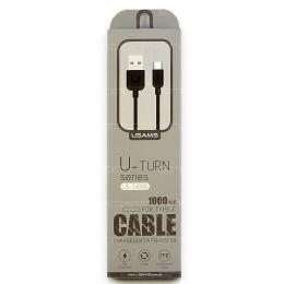 USAMS SJ099 Datový Kabel Type C U Turn Black