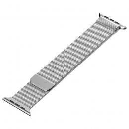 Milanese Loop řemínek pro Apple Watch 42 mm stříbrný