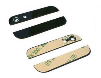 Dekorační štítek pro Apple iPhone 5S/SE černý