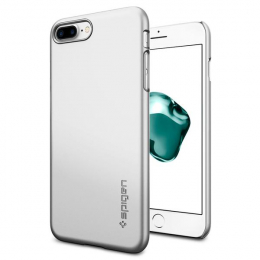 Pouzdro Spigen Thin Fit pro Apple iPhone 7 Plus Satin Silver