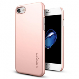 Pouzdro Spigen Thin Fit pro Apple iPhone 7 Rose Gold