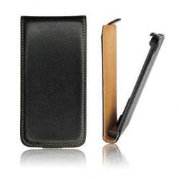 Pouzdro Slim Flip Flexi pro Samsung G850 Galaxy Alpha Black