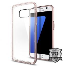 Pouzdro Spigen Ultra Hybrid pro Samsung G930F Galaxy S7 Rose Crystal