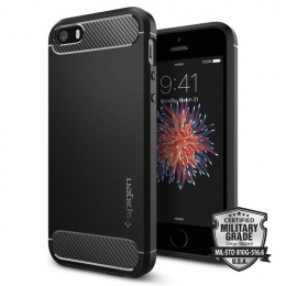 Pouzdro Spigen (041CS20167) Rugged Armor pro Apple iPhone 5S SE Black a8648c9b5c5